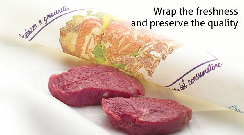 Laminated paper for packaging fresh foods, resistant and printable
